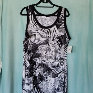 OLIVIA MATTHEWS black and white tank maxi dress